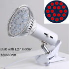Par38 54W 660nm Red Light Therapy, E27 Infrared 850nm Therapy Bulbs with Holder