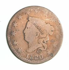 Tough - 1820 Matron Head Large Cent - US Early Copper Coin *791