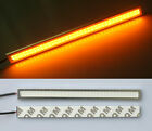 2x Amber/Yellow Waterproof LED Daytime Running Light DRL COB Strip Lamp 17cm 12V