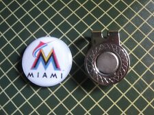 GOLF / Miami Marlins Logo Golf Ball Marker/with Magnet Hat Clip New!!