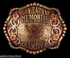 Mortenson Rodeo Trophy Belt Buckle Custom Made Ranch Sorting Memorial