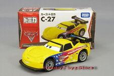 "NEW! Tomica Tomy Disney ""CARS 2"" Diecast C-27 Jeff Gorvette (Standard Type)"