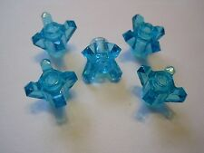 Lego (5x) Chima Trans-Light Blue Rock 1 x 1 Crystal 4 Point Jewel (11127)