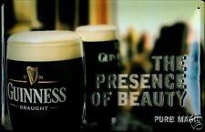 Guinness Beauty Blechschild Schild 3D geprägt gewölbt Metal Tin Sign 20 x 30 cm
