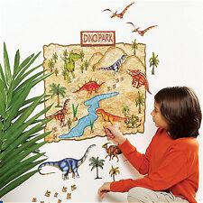 WALLIES DINOSAUR PARK wall stickers 36 decal MURAL dino footprint JURASSIC WORLD
