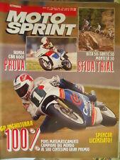 Motosprint 32 1989 Test Honda CBR 600F Beta 50 - Fantic 50 - Montesa 50