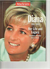 PRINCESS DIANA DI HER LIFE AND LEGACY MACLEANS SPECIAL EDITION MAGAZINE CANADA
