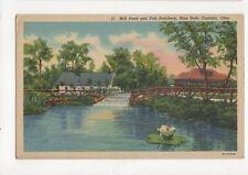 Mill Pond & Fish Hatchery Blue Hole Castalia Ohio USA Vintage Postcard 139a