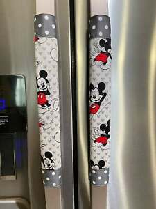 Refrigerator Door Handle Covers Set of 2 Mickey Mouse Theme 13LX5W