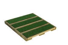 (14,06 € / m²) Terrassenfliesen Holz mit Kunstrasen 40 x 40 cm - 180 Stück