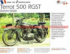 TERROT 500 RGST ( RGST-A ) 1948 Fiche Moto 000245