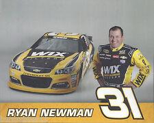 "2016 RYAN NEWMAN ""WIX FILTERS RCR CHEVY SS"" #31 NASCAR SPRINT CUP POSTCARD"