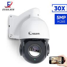 "Mini 4.5"" PTZ 5MP HD H.265 30x Zoom IP Dome 48V POE Camera IR Night 360 Degree"