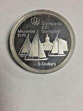 5 Dollars Canada Olympics Montreal 1976 SAILBOATS Coin