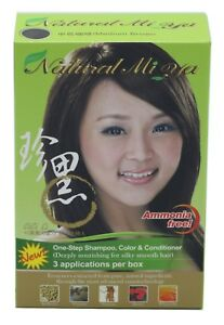Natural Mi Ya Herbal Colorant 3-1 Hair Dyeing Coloring Shampoo, Medium Brown
