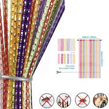 Home Door Curtain Rainbow Coloured Beads String Door Curtain Fly Insect Bug Scre