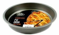 2 Pie Dishes Steel 22cm Quality Cake Tin Quiche Flan Victoria Sponge Bake