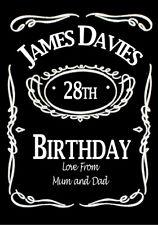 2 x PERSONALISED JACK DANIELS WHISKY BOTTLE LABEL  BOURBON JD 35CL MINI