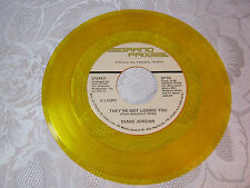 Diane Jordan Grand Prix Lable DJ Copy Rare Yellow Vinyl  45 record