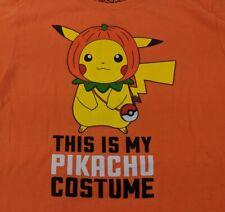 Pokemon Pikachu Orange T-Shirt Sz Large Halloween Tee - NEW