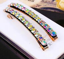 USA Quality Bobby Pin Hair Clip using Swarovski Crystal Hairpin Long Colorful AB