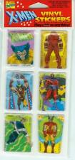 X-MEN Sticker Set Red (Wolverine, Magneto, Cyclops, Juggernaut) (USA, 1991)