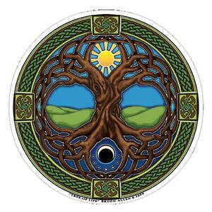 Mandala Art Tree of Life window Sticker 2-sided indoor outdoor fantasy pagan
