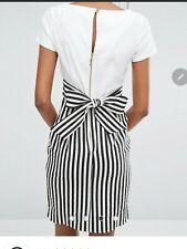 Closet London ASOS Dress Size 10 Navy Cream Stripe