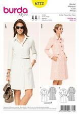 BURDA SEWING PATTERN LADIES Redefined classic designs COAT SIZE 8 - 18   6772