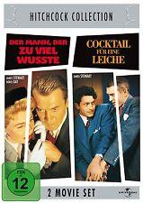 DER MANN, DER ZUVIEL WUSSTE + COCKTAIL FÜR EINE LEICHE (2 DVDs) Alfred Hitchcock
