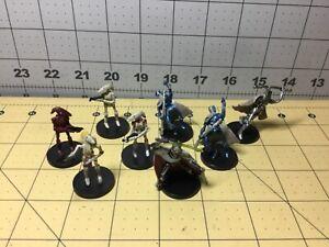 Star Wars Miniatures Lot Of 8 Separatist Droid Figures: Grievous - No Cards