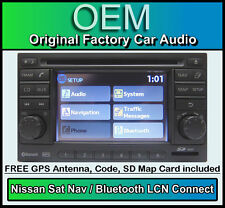 Nissan Qashqai Sat Nav CD player stereo, LCN Connect car headunit + Map SD Card