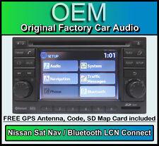 NISSAN QASHQAI GPS lecteur CD STEREO,LCN Connecteur Voiture Autoradio + CARTE SD