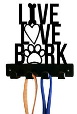 Live Love Bark Dog Leash Holder - Wall Mount - Made in Usa
