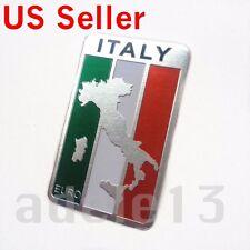 Italian Flag Emblem Metal Sticker Badge Decal Car Truck Auto SUV