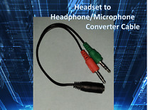 3.5mm 4 Pole Female To 3 Pole Male Audio Converter Cable PC Laptop Mac Headset