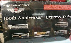 HARLEY-DAVIDSON 100th Anniversary Express HO Diesel Train. 2002 C-10 sealed sc