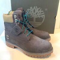 Men's Timberland Boots UK Size 9 10 Waterproof Leather Walking Grey Nubuck