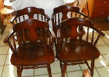 Set of 4 Solid Oak Barrel Back Dinette Chairs by Cochrane  (RP-DC26)