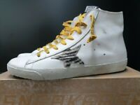 Golden Goose Women's Sneakers Francy White Leater Zebra Star 100% Authentic