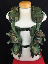 US MILITARY TACTICAL LOAD BEARING VEST | WOODLAND CAMO | EUC - 8415-01-296-8878