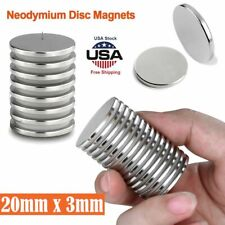Powerful Disc Neodymium Magnets Adhesive Backing Rare-Earth 20 x 3mm Magnet Lot