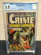 Fight Against Crime 16 CGC 3.5 OW to WHITE Pages 1953 Horror Bondage Pre Code