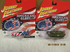 Johnny Lightning Lot of  2 American Glory  Collection 1969 Charger & M1A1 Tank