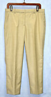 B0 Auth THEORY Wmns Sand Sleek Front Zip Virgin Wool Tailor Croped Trousers Sz 8