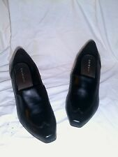 PREDICTIONS WESTERN STYLE BLACK HIGH HEEL SHOES SLIDES SIZE 6.5