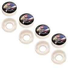 4 Chrome Custom License Plate Frame Screw Snap Caps Covers American Eagle L