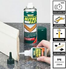 More details for everbuild mitre1ind mitre fast two part instant bonding kit, 50 g adhesive , 200