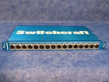 Switchcraft Ptaesebu2Db25 Aes/Ebu Patchbay 8 Female & 8 Male Xlr to tw