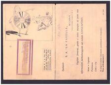Cartolina Pubblicitaria LINGUAFONO Metodo Parlato Lingue La Favella Milano KN132